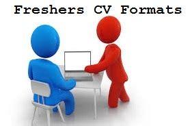 Resume Format for Freshers - Resume Samples for - CV